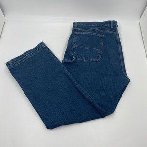 Dickies Men's Dark Wash Straight Leg Carpenter Jeans - Size 42x30 Measured
